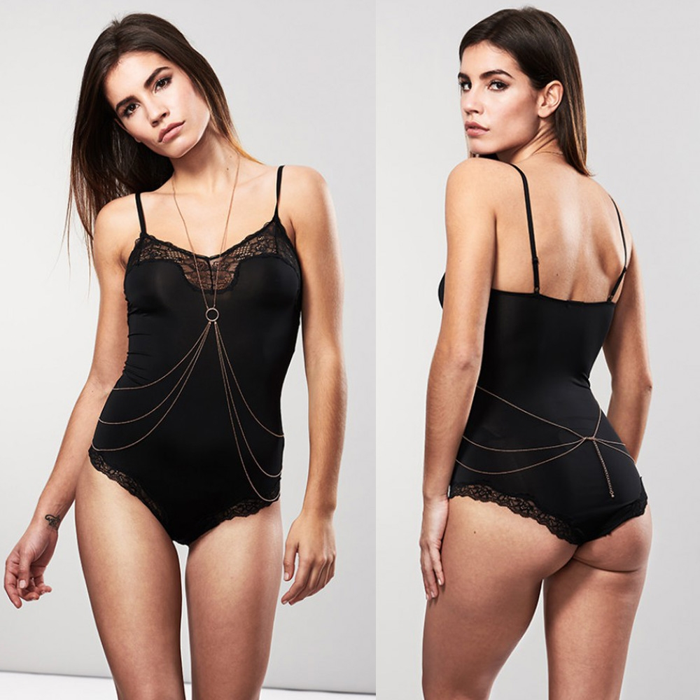 BIJOUX INDISCRETS BACK & BODY CHAIN ONE SIZE